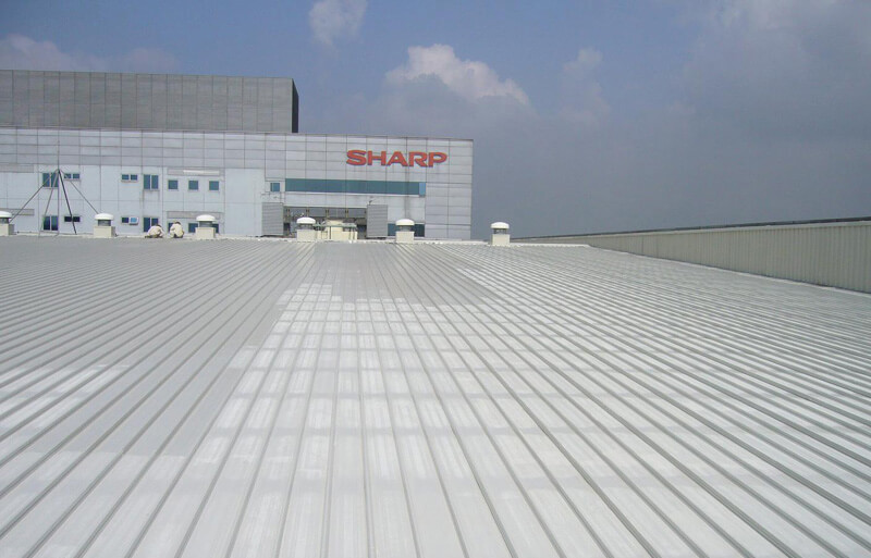 Sharp Factory Metal Roof Paintingjpg